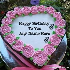Best ever way of wishing birthday online. Get free happy birthday cake with name and photo, birthday cards with name, and birthday wishes with name. Birthday Cake For Wife, Happy Birthday Wishes Sister, Birthday Wishes Sms, Birthday Celebration Quotes, Image Birthday Cake, Friends Birthday Cake, Birthday Wishes With Name, Birthday Cake Writing, Unique Birthday Cakes