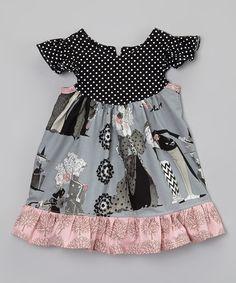 Look at this #zulilyfind! Sutton's Buttons Black & Pink Ghastlie Flutter Dress - Infant & Toddler by Sutton's Buttons #zulilyfinds