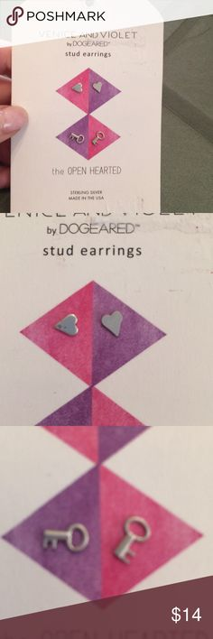 Sterling silver studs New and so adorably fashionable. Dogeared Jewelry Earrings