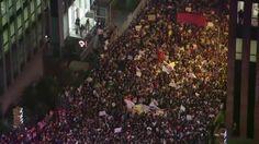 VIDEO: Raw: Massive Protests Fill Brazilian Streets - http://uptotheminutenews.net/2013/06/18/u-s-news-report/video-raw-massive-protests-fill-brazilian-streets/