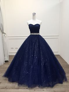 New Arrival Navy Blue Sequin Long Prom Dress, Custom Made Women Party Gowns ,Long Evening Dress - Style Evening Dresses Cute Prom Dresses, Elegant Dresses, Homecoming Dresses, Pretty Dresses, Sweet 16 Dresses Blue, Navy Blue Quinceanera Dresses, Wedding Dresses, Sweet Sixteen Dresses, Grad Dresses Long