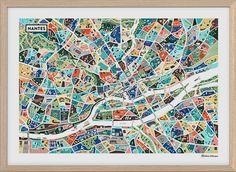 Map of Nantes by Antoine Corbineau