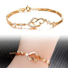 Ms K Gold Plated Bracelet With Contracted Love Bracelet KS