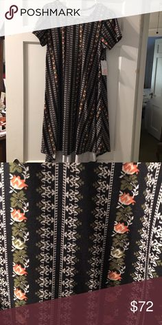 Lularoe XS Carly leggings materil This Carly is gorgeous and super soft!! Beautiful print for the season. LuLaRoe Dresses High Low