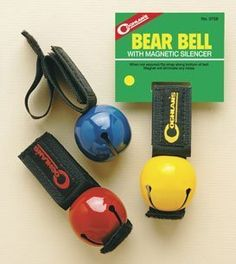 Coghlans Bear Bell With Magnetic Silencer Hiking Safety Survival Attack Dog Bell  Backpackers Bear Bell With Magnetic Silencer Safety Survival Attack By Coghlans Brand New!   This great bell is multi purpose, attaches to clothing or pack with velcro strap.    Protect yourself, children and pets from dangerous animals.   In the bag, the magnet eliminates any noise to warn bears and animals of your presence.    Out, movement will cause a steady ringing to warn animals to your presence…