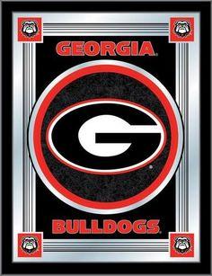 Georgia Bulldogs UGA Logo Mirror Wall Art