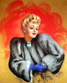 *Pinup...The Emerald Girl  Artist:Billy Devorss  Date:1940's