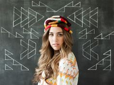 Not sure what this would be for, but it's interesting! The House That Lars Built.: In her hair Part 2 Colorful Fashion, Diy Fashion, Dream Hair, Floral Crown, Diy Clothing, Models, Party Hats, Her Hair, Hair Inspiration