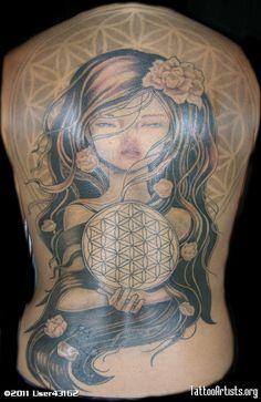 stoner tattoo flower of life photo