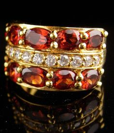 EE/_ Women/'s Antique Gold Rhinestone Flower Ring Party Cocktail Jewelry Gift Heal