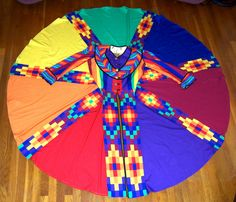 https://flic.kr/p/76h3kh | Joseph's coat full circle | I was commissioned to produce all of Joseph's garments for a community production of Andrew Lloyd Webber's Joseph and the Amazing Technicolor Dreamcoat. Here is Joseph's Amazing Coat. www.sew-and-so.net email@sew-and-so.net