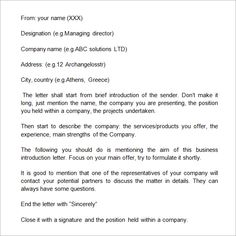 Image result for manufacturing company introduction letter to new company introduction letter introduction email to client templates word excel pdf formats spiritdancerdesigns Images