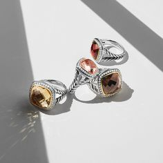 Iconic @davidyurman Albion rings in new colors - which one is your favorite? #mccaskillandcompany