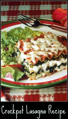 tasty #crockpot lasagna #recipe