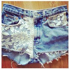 Cute idea for DIY shorts