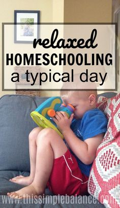 Curious what relaxed homeschooling looks like? Take a peek into our homeschool day with four kids (7, 5, 3, & 1). #homeschooling