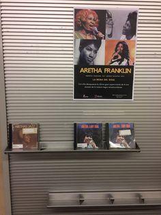 Aretha Franklin (1942-2018).cantante estadounidense de soul, R&B y góspel. Apodada «Lady Soul» (la Dama del Soul) o «Queen of soul» (la Reina del Soul), fue una de las máximas exponentes de aquel género, y una de las más grandes transmisoras de góspel de todos los tiempos, así como una de las artistas más influyentes en la música contemporánea. Expositor con una selección de sus discos en la 3ª planta, Sección de Música y Cine. Agosto de 2017-septiembre 2018. Centenario, Aretha Franklin, Your Photos, Polaroid Film, Photo And Video, Videos, Lady, Door Prizes, September