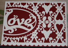 """A """"love""""ly Valentine card made with my Silhouette Cameo and Stampin' Up!"""