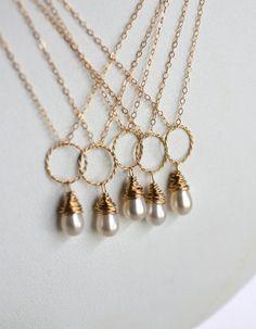 Eternity Necklaces - Pearl Bridesmaid Necklaces