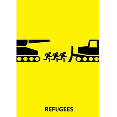 Poster about refugees by Marta Tomczyk