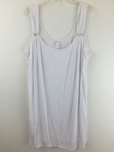Womens Plus Size 1X Swimsuit Beach Cover White Stretch Rayon by Tropical Escape #TropicalEscape #CoverUp