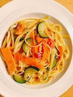 Zucchini-Möhren-Nudeln mit einer cremigen Sauce, ein gutes Rezept aus der Kategorie Gemüse. Bewertungen: 72. Durchschnitt: Ø 4,3.