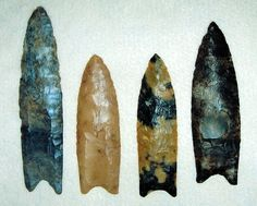 Clovis Points  --  In 1932, an even earlier style of projectile point was unearthed, Clovis, dating back to 13,500 BCE. Clovis points have been discovered in situ in association with mammoth skeletons.