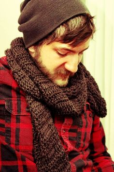 Crocheted Scarf , great for men or women  $25.00