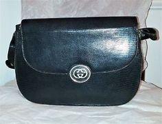 VINTAGE GUCCI 1960s Authentic Leather Interlocking GG Rare Purse w/Dustbag Rare | eBay