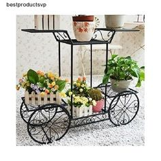#Ebay #Flower #Pot #Stand #Black #Holder #Plant #Display #Shelves #Metal #Rack #Patio #Garden #Deck #MyGift
