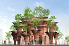 2015米蘭世博會越南館 竹子建構荷花綠意-有. 設計uDesign