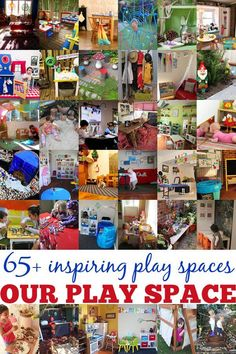 Check out our collection of over 65 play spaces - indoor and outdoor spaces, creative, imaginative and reading spaces, and more!