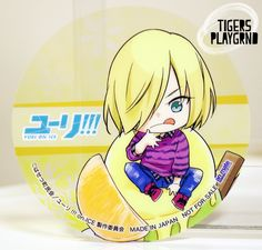 Yuri Plisetsky Ice Cream Clear Coaster - Yuri!!! on ICE - Only Shop via Tiger's Playground. Click on the image to see more!