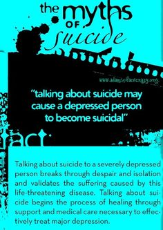 Myths of suicide and suicide prevention