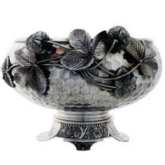 Aesthetic Wilcox Plated Hammered 3D Strawberry Bowl U.S. ca.1885