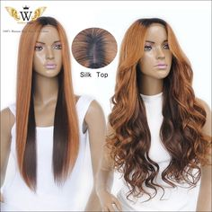 Find More Human Wigs Information about 5A Silk Top Glueless Full Lace Wigs Black…