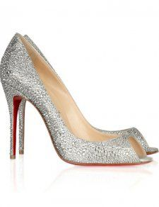 High Heel Sparkle Silver Shoes