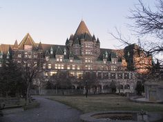 Place Viger, Montreal - constructed at the turn of the 20th century and was designed in the style of a French Château. Place Viger was once a grand luxury hotel and also housed a railway station in its lower floors.
