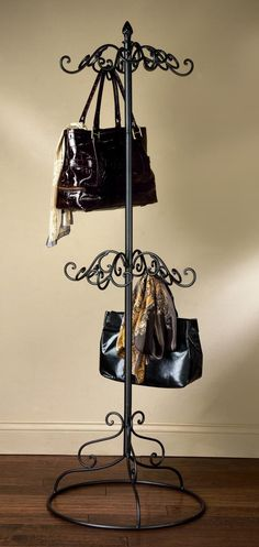 scarf hanger ideas | Stylish Purse Racks and Storage Ideas Get You Organized