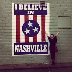 This is one sign EVERYONE needs to see and get their picture taken with. I don't know any other city that has a panting like this!   #OneOfAKindNashville