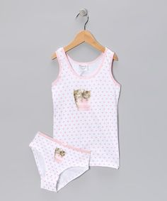 Take a look at this Pink Little Miss Kitty Underwear Set - Toddler & Girls on zulily today!