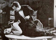 Still from the 1919 silent film Upstairs and Down starring Olive Thomas.  the film is lost.
