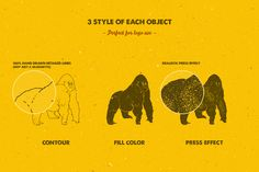 hand drawn animal pack_the retro design toolbox #retro #design #deals