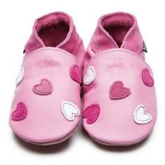 Cariad Baby Pink Inch Blue Shoes | Handmade Soft Leather Baby Shoes