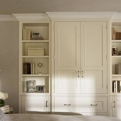 Bedroom Built In. This would look great in our BR!