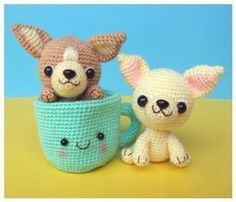 Teacup Chihuahua Puppies #crochet #amigurumi.