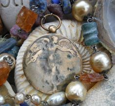 Victory  Vintage Assemblage Necklace by HappyMoonDesigns on Etsy, $261.00