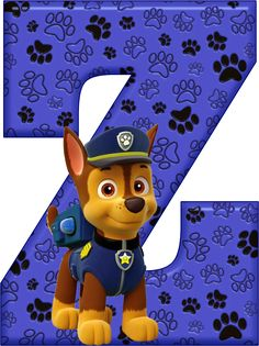 *✿**✿*Z*✿**✿*DE ALFABETO DECORATIVO Los Paw Patrol, Paw Patrol Party, Paw Patrol Birthday, Birthday Shirts, 4th Birthday, Alfabeto Animal, Cumple Paw Patrol, Letter Symbols, Scrapbook