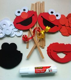 DIY Elmo Inspired Kids Party Craft by FromBeths on Etsy, $8.25