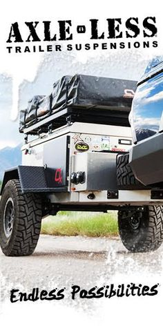 This article comes from an interview we did with Mark Badgerow of Off Grid Trailers. Check out his cool fabrication and options and TAP into Adventure! Off Grid Trailers, Tent Trailers, Off Road Trailer, Small Trailer, Trailer Build, Homemade Trailer, Homemade Camper, Overland Truck, Overland Trailer